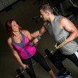 Stock Photo: Physical Fitness Trainer in Gym