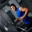 Running on treadmill — Stockfoto