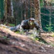 Paintball Spieler liegend — Stockfoto