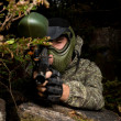 Paintball sniper ready for shooting — Stock Photo #30318231