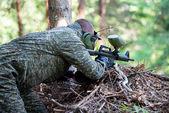 Sniper Aiming Gun — Stock Photo