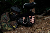 Game In A Paintball — Stock Photo