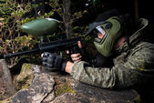 Paintball Shooter — Stock Photo