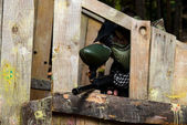 Players in paintball — Stock Photo