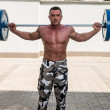 Barbell Lunge — Stock Photo