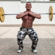 Man Doing Front Squats — Stock Photo #32175735