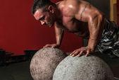 Push Up Exercise — Stock Photo