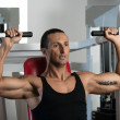 Shoulder Press Workout — Stock Photo