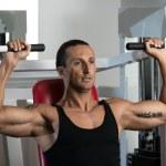 Shoulder Press Workout — Stock Photo