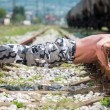 Muscular Man Doing Push-ups — Stok fotoğraf