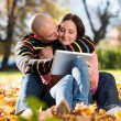 Beautiful Young Couple Using Digital Tablet — Stock Photo