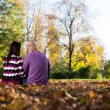 Romantic Couple In A Park — Foto de Stock