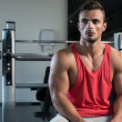 Satisfied Man At Gym — Stockfoto
