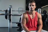 Satisfied Man At Gym — Stock Photo