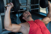 Chest Workout With Dumbbells — Stock Photo