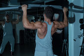 Chin Ups Workout For Back — Stock Photo