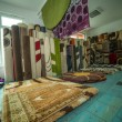 Colorful Rugs For Sale At Store — Stock Photo
