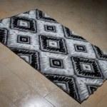 Pattern Carpet Lying On Floor — Stock Photo