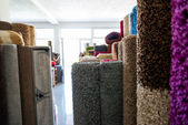 Rolled Rugs Inside A Rug Store — Stock Photo