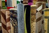 颜色纹理的地毯表面细节的特定视图 — 图库照片
