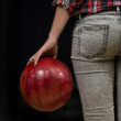 Close-Up Of A Butt Next To A Bowling Ball — Stock Photo #38819123