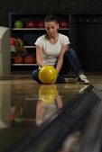 Bowling Problem At The Bowling Alley — Stock Photo