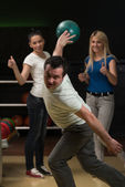 Group Of People Bowling — Stock Photo