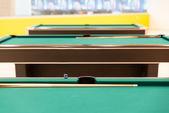 プール テーブルをクローズ アップ — ストック写真