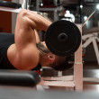 Foto de Stock  : Muscular MExercising Triceps