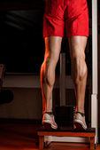 Muscular Man Calves — Stock Photo