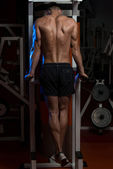 Young Man Doing Exercise For Triceps — Stock Photo