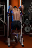 Young Man Working Out Triceps — Stock Photo