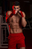 Mixed Martial Arts Fighter Ready To Fight — Stock Photo