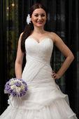 Beauty Bride In White Dress — Stock Photo