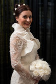 Bride With Bouquet — Stock Photo