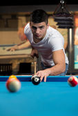 Male Pool Player — Stock Photo
