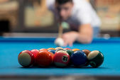 Young Person Playing Snooker — Stock Photo