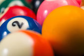 Billiard Balls Ready For The Break — Stock Photo