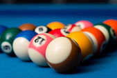 Billiard Balls Ready For The Break — Stockfoto