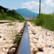 Railroad Track Goes Ahead — Stock Photo #40871641