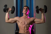 Exercise For Shoulders Dumbbell Presses — Stock Photo