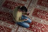 謙虚なイスラム教徒の祈り — ストック写真