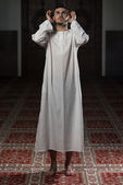 Muslim Man Is Praying In The Mosque — Stok fotoğraf