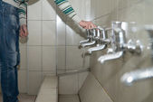 Young Man Prepairing To Take Ablution — Stock Photo