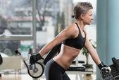 上腕三頭筋のトレーニング — ストック写真