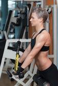 Triceps egzersiz — Stok fotoğraf