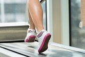 Exercising On A Treadmill — Stok fotoğraf