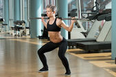 Barbell Squat — Stock Photo