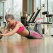 Exercise Whit A Ab Roller — Stock Photo #43338131