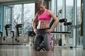 Fitness Woman With Six Pack — Stock Photo